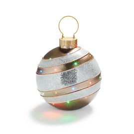 Fiber Optic LED Gold Ornament