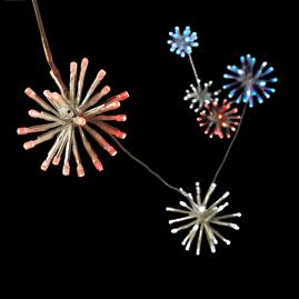 "3"" Red, White and Blue Lighted LED Sparklers,"