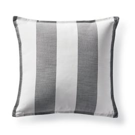 Luxe Linen Stripe Charcoal Outdoor Pillow by Martyn