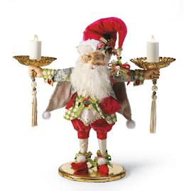 Mark Roberts Elf with Two Candle Holders