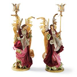Mark Roberts Standing Angel Candle Holders, Set of