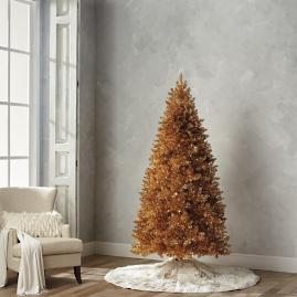 Gold Quick Light LED 7-1/2' Full Profile Tree