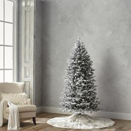 Flocked Fraser 7-1/2' Slim Profile Tree with Meteor