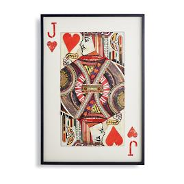 Jack of Hearts Cut Paper Collage