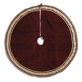 Velvet Gold Jeweled Trim Tree Skirt