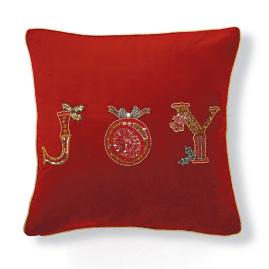 Joy Beaded Pillow Cover