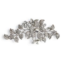 Jeweled Floral Brooch