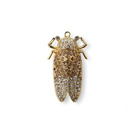 Jeweled Grasshopper Clips, Set of Six