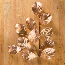 Metallic Magnolia Leaf Spray, Set of Twelve