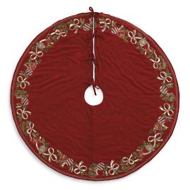 Red and Green Traditional Tree Skirt