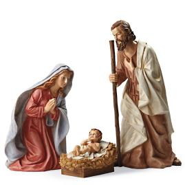 Outdoor Nativity Holy Family, Set of Three
