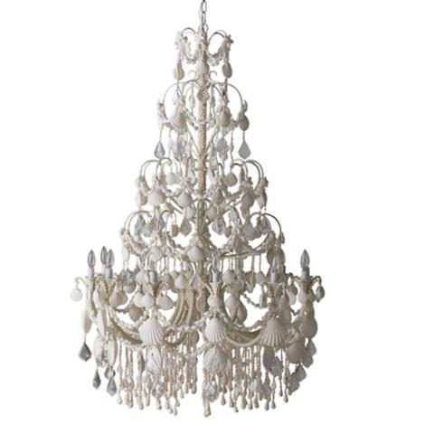 Large harbor shell chandelier frontgate large harbor shell chandelier mozeypictures Choice Image