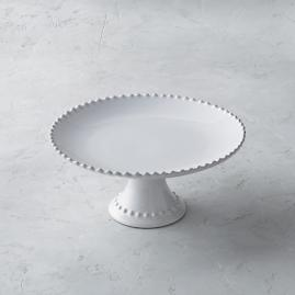 "Costa Nova Pearl 11"" Cake Stand in White"