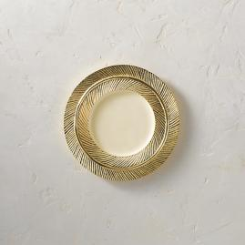 Lunares Gold Feather Salad Plate