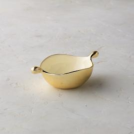 Lunares Gold Feather Pod Dish