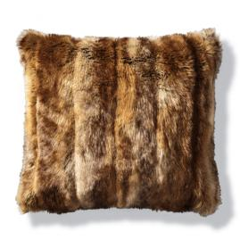 Luxury Faux Fur Pillow in Coyote