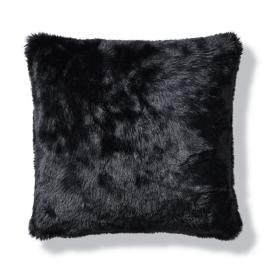 Luxury Faux Fur Pillow in Panther