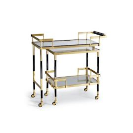Farrow Swivel Bar Cart by Martyn Lawrence Bullard