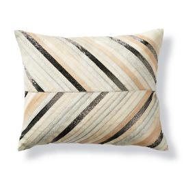 Zayne Chevron Hide Lumbar Decorative Pillow by Martyn