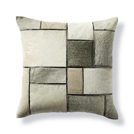 Jagger Patched Hide Decorative Pillow by Martyn Lawrence