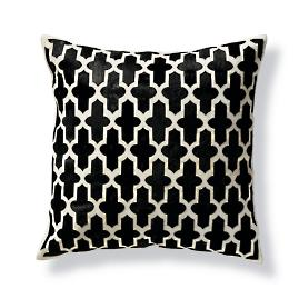 Holden Moroccan Trellis Hide Decorative Pillow by Martyn