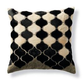 Arabesque Moroccan Tile Hide Decorative Pillow by Martyn