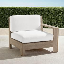 St. Kitts Right-facing Chair in Weathered Teak with