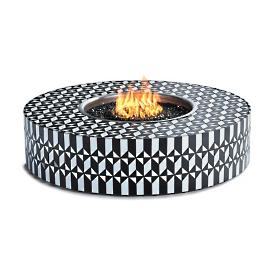 Arcadia Mosaic Tile Fire Table by Martyn Lawrence