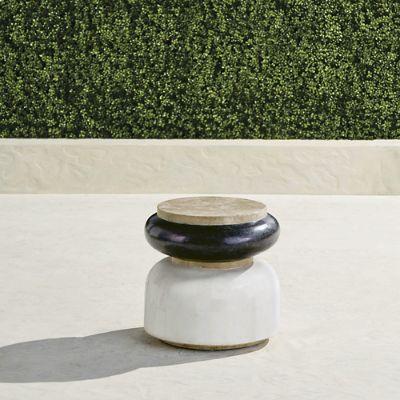 Masson Stone Stool Frontgate