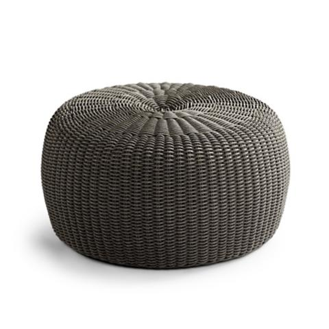 Astonishing Hudson Outdoor Pouf Ottoman In Charcoal Machost Co Dining Chair Design Ideas Machostcouk