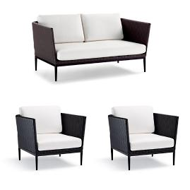 Palazzo Carbon 3-pc. Loveseat Set