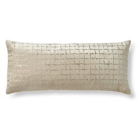 Pretoria Luster Gridwork Lumbar Decorative Pillow