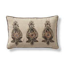 Petra Beaded Lumbar Decorative Pillow