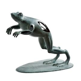 Progressing Leaping Frog Garden Sculpture