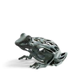 Progressing Sitting Frog Garden Sculpture
