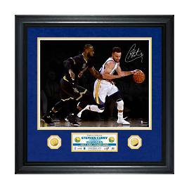 Stephen Curry Autographed 2017 NBA Finals Photo