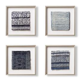 Hmong Framed Textiles, Set of Four