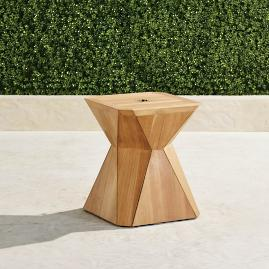 Teak Prism Umbrella Table