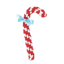 Candy Cane Rope Dog Toy