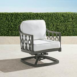 Avery Swivel Lounge Chair with Cushions in Slate