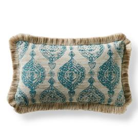 Cadiz Imprint Peacock Lumbar Pillow