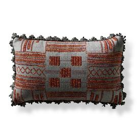 Caravan Stitch Berry Lumbar Pillow