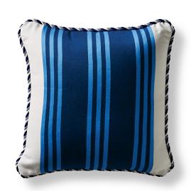 Brighton Stripe Cobalt Square Pillow