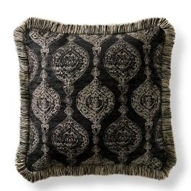 Cadiz Imprint Onyx Square Pillow