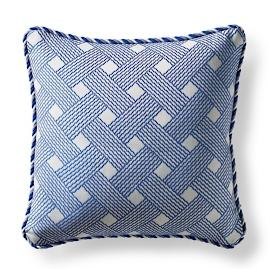 Casco Trellis Cobalt Square Pillow