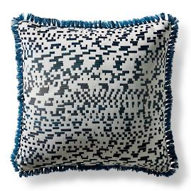 Code Luxe Peacock Square Pillow