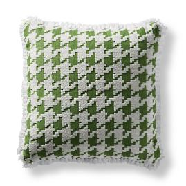 Houndstooth Fun Indoor/Outdoor Pillow - Gingko