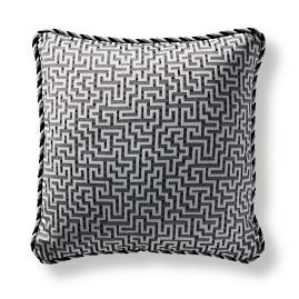 Ionian Key Onyx Square Pillow