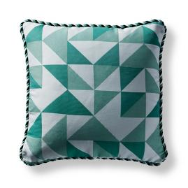 Kaleidoscope Emerald Square Pillow