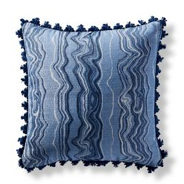 Kantanga Marble Air Blue Square Pillow